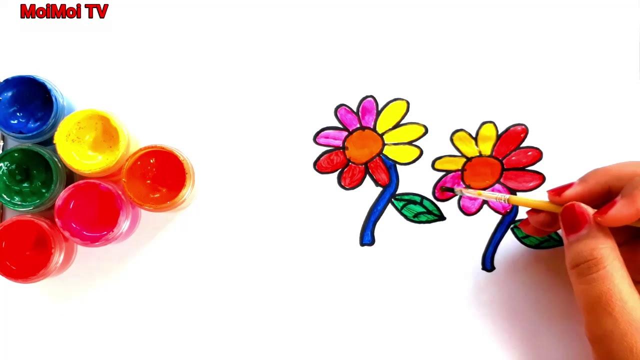Rainbow Glitter Menggambar Dan Mewarnai Bunga Matahari