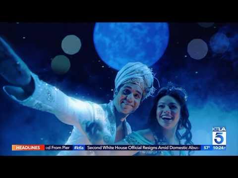 KTLA goes behind the 1 million dollar production of Aladdin