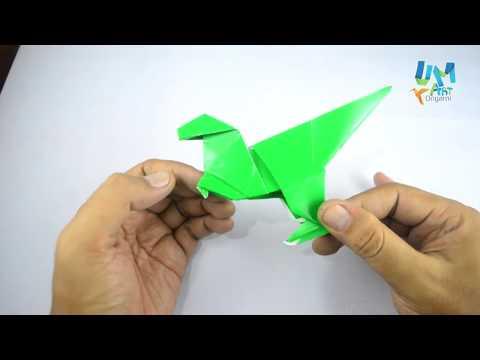 Cara Membuat Origami Dinosaur T-Rex Mudah