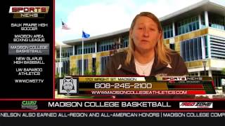 Head Women's Basketball Coach Jessica Pelzel on the Sports Report