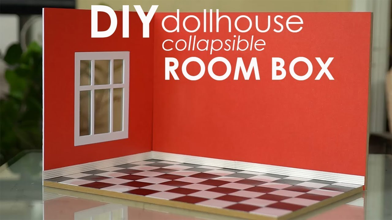 Miniature Children S Bedroom Room Box Diorama: DIY Miniature Collapsible Room Box
