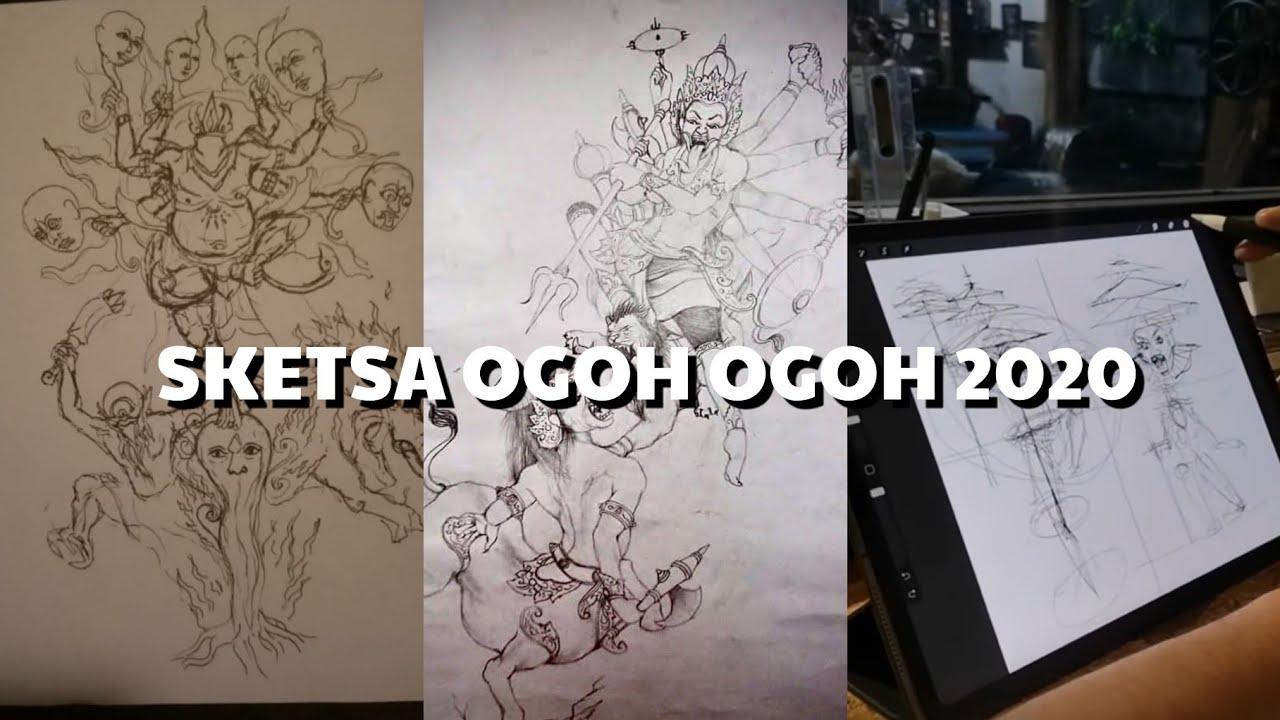 Sketsa Ogoh Ogoh Tahun 2020 Jeg Mantap Part 1