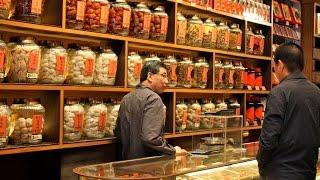 Hong Kong Traditional Chinese Medicine at Wing Lok Street Bonham Strand West