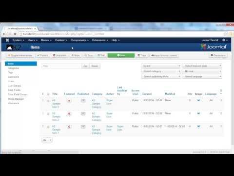 Convert K2 Items To Joomla Content Articles