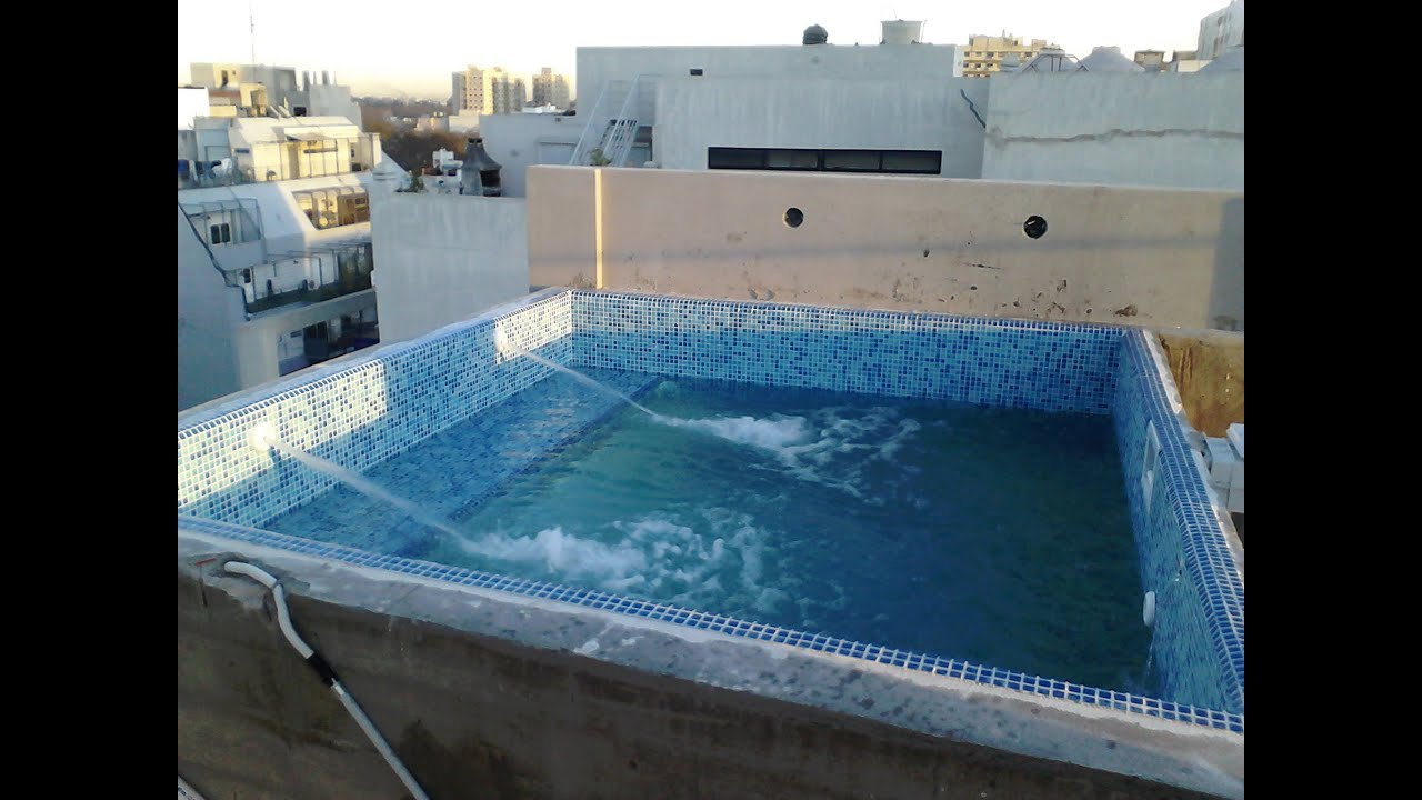 Piscina de hormig n en piso 10 bs as youtube for Construccion piscinas economicas