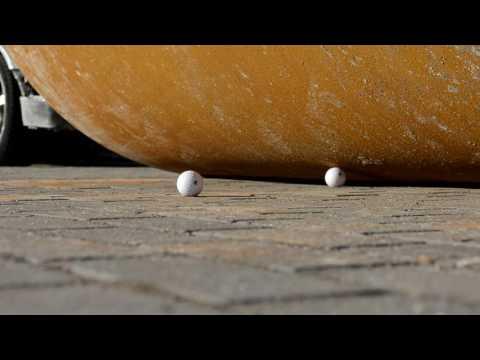 Road Roller vs Golf Ball