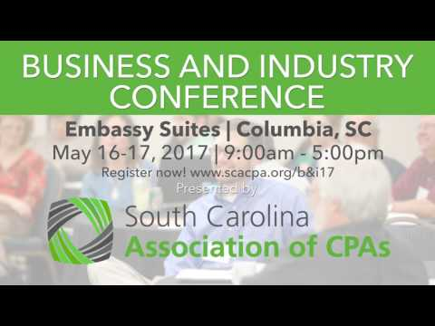 SCACPA | Business and Industry Conference Columbia SC