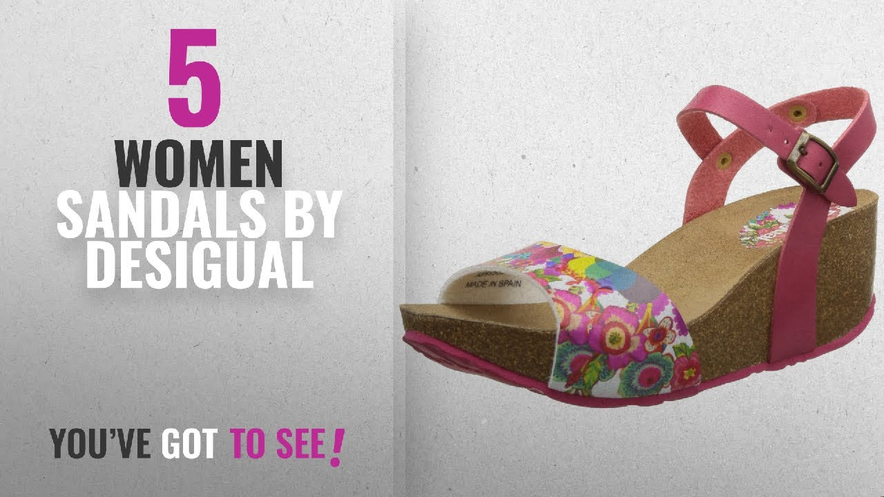 e1018dff01adb3 Top 5 Desigual Women Sandals [2018]: Desigual Womens Caramelo Rojo Abril  Slide - 38