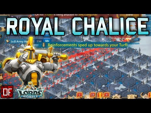 UNEXPECTED Lords Mobile Gameplay At The Royal Chalice With A Garrison Trap