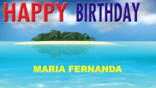 MariaFernanda   Card Tarjeta - Happy Birthday