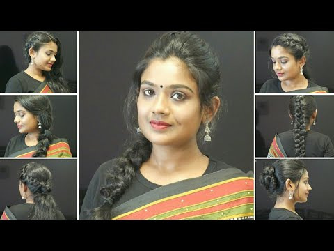 6 Easy Hairstyles for Saree|Hairstyles for party|Indian Hairstyles for Saree|Disha