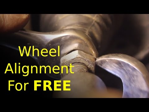 front and wheel ALIGNMENT at no cost (effective and FREE)
