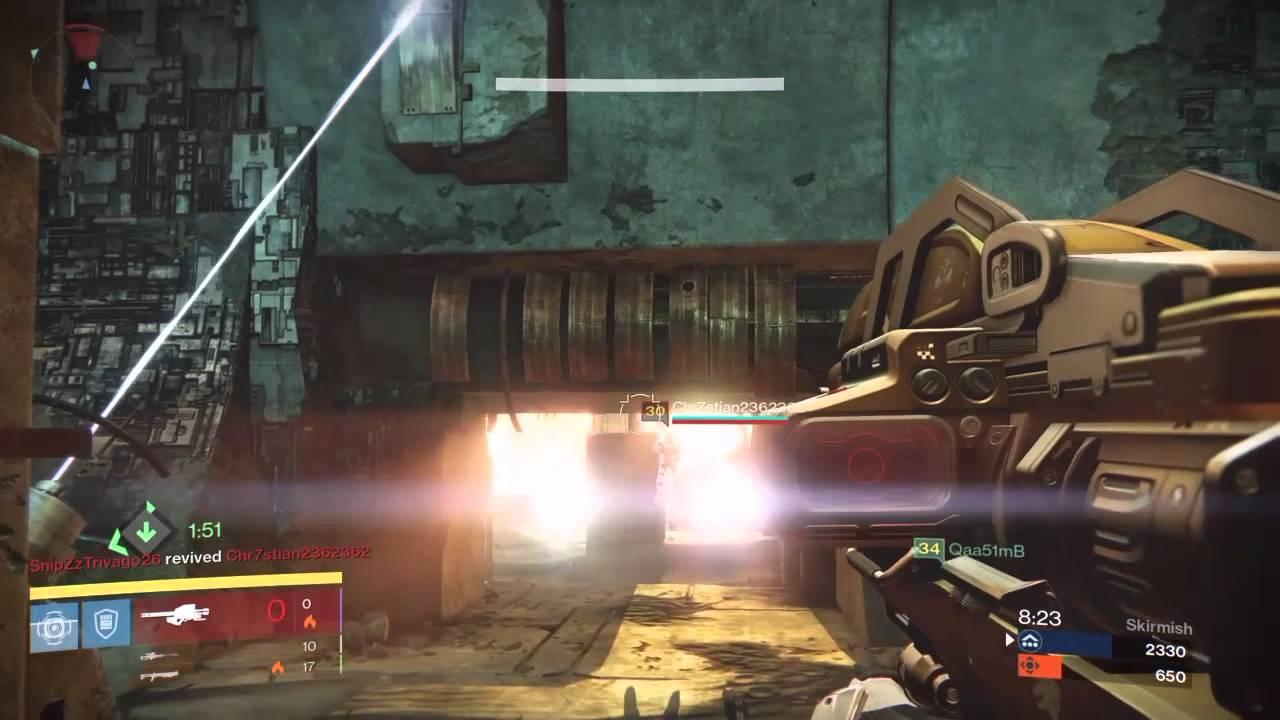 Destiny PVP - No Land Beyond Skirmish Defender Titan 17-3 - YouTube