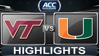 2013 ACC Football Highlights | Virginia Tech vs Miami | ACCDigitalNetwork