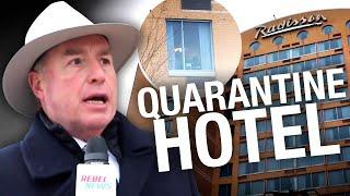 Die Gesc, der aus einem COVID-Quarantäne-Hotel in Toronto geflohen ist