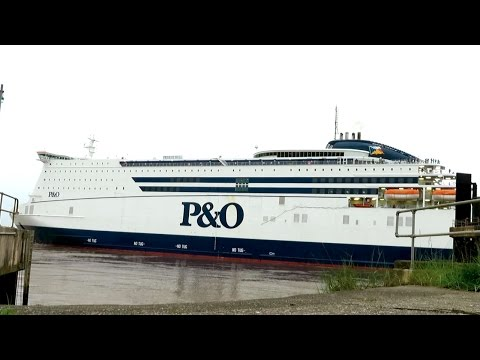 P&O Pride Of Hull Mini Cruise Ferry Departing Hull For Rotterdam