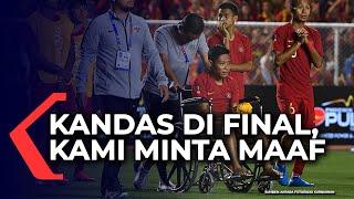 Di Atas Kursi Roda Evan Dimas Minta Maaf Usai Dikandaskan Vietnam di Final Sea Games 2019