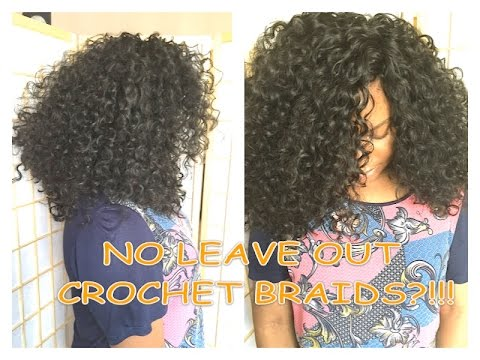 Crochet Hair Leave Out : ... to install knotless curly crochet braids with no leave out - YouTube