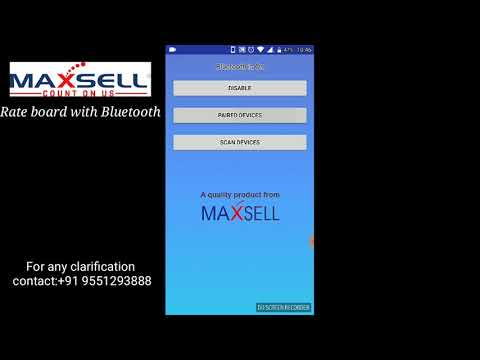 MAXSELL BLUETOOTH SMALL LED G8G1S1 OPERATIONAL VIDEO