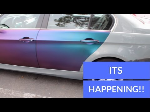 WRAPPING MY CAR MYSELF BMW(E90 DOOR HOWTO)