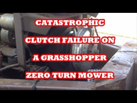CATASTROPHIC CLUTCH FAILURE ON A GRASSHOPPER 721G AFTER HITTING 6 INCH CAST  IRON WATER MAIN
