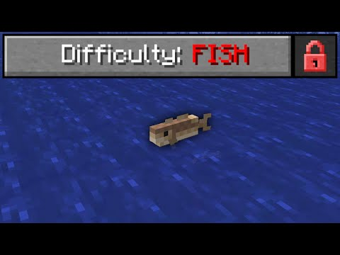 I beat Minecraft as a Fish. It was insanely hard.