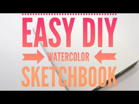 How to make Watercolor Sketchbook | Super Easy, Fast & Cheap