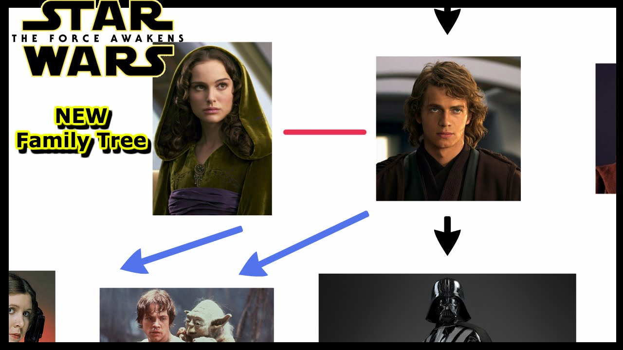 simple star wars family tree   updated to force awakens