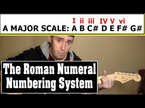 Basics of the Roman Numeral Numbering System for Chord Progressions