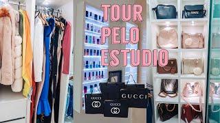 TOUR PELO MEU ESTÚDIO + ORGANIZANDO TODAS AS BOLSAS + EVENTO COM MINHAS IRMÃS + RECEITA MAIS TOP!