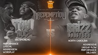 TAY ROC VS BRIZZ RAWSTEEN  SMACK/ URL RAP BATTLE 2015