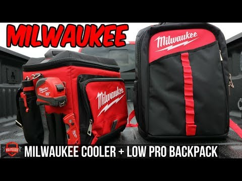 Milwaukee Tool Low Profile Backpack + Job Site Cooler | Intro/Review New 2017-18