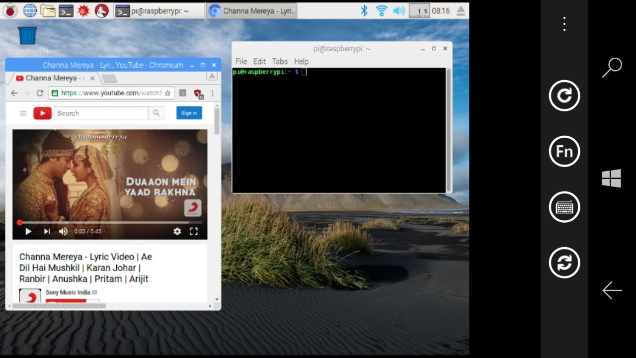 raspberry pi vnc configuration and access with pc and smartphone