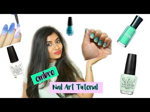 How I Do My Ombre Nails ! (Nail Art Tutorial) | FashionMoksha