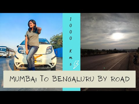 Mumbai to Bengaluru by road – 1000 Kms |Road journey to Bengaluru | Road trip 2020. Ep. 01