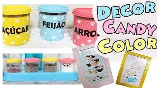 DIY DECOR - 3 IDEIAS DE DECORAÇÃO PARA COZINHA GASTANDO POUCO $ | Candy Color