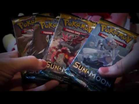 ASMR Relaxing Pokemon Pack Opening~ (Sun & Moon) | LillyASMR