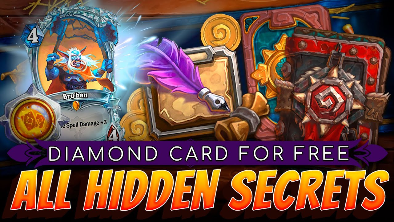 All Hidden Secrets of Rewards Tracks. How to get Diamond Bru'kan and All Hearthstone Cards For FREE?