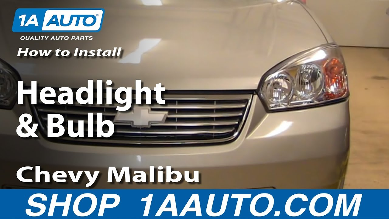 maxresdefault how to install replace headlight and bulb chevy malibu 04 08 2004 chevy malibu headlight wiring diagram at gsmx.co
