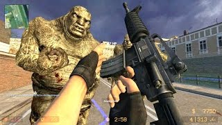 Counter Strike Source - Zombie Horde Mod Zombie Horror Boss fight Online Gameplay on Coroners 2 map