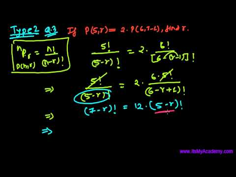 Permutations Question Solving for r (Type2) - Combinations &  Permutations Lecture 27