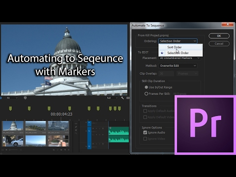 E32 - Automate to Sequence with Markers - Adobe Premiere Pro CC 2017