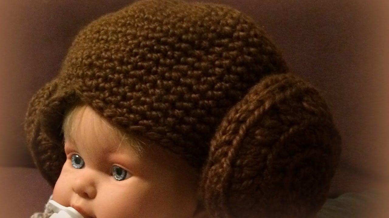 Mano Izquierda Gorro Princesa Leia En Star Wars Crochet Left Handed Princess Leia S Hat Youtube