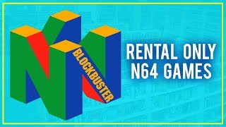 Blockbuster Exclusive N64 Games - Rental Only Games