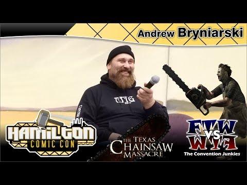 Andrew Bryniarski Leatherface, The Texas Chain Saw Massacre Hamilton Comic Con 2017 Full Panel