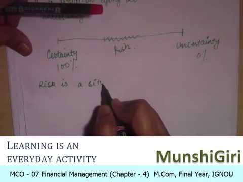 Financial Management Ch 4, Risk and Return for M.Com Final Year (IGNOU)