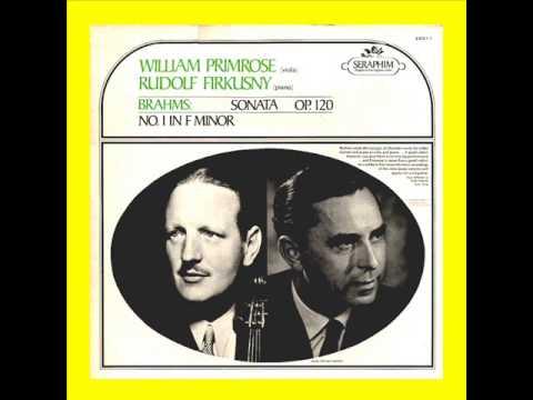 Brahms-Viola Sonata no. 1 in f minor op. 120 (Complete)