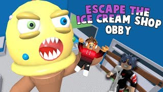 Dondurma Dev Adamdan kaçış !!! /  Escape The Ice Cream Shop Obby / Roblox Türkçe