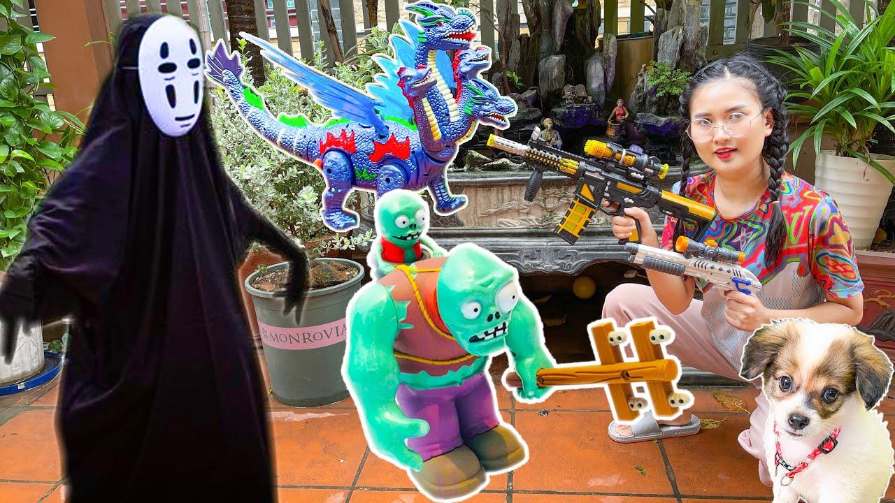 Con chó bị zombie bắt, Changcady chiến đấu zombie cứu các con vật: con vịt, khủng long - Part 307