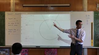 Tangent Properties - Circle Geometry (Tangent is perpendicular to radius)